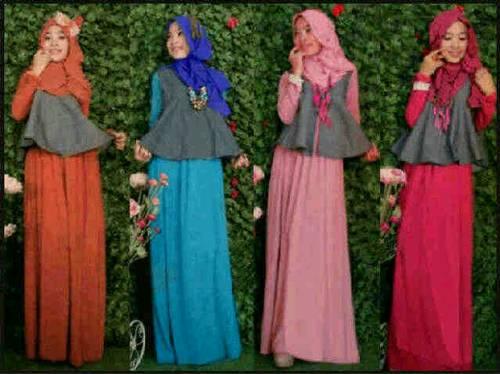Pin Gamis Kaftan Hitam Ea145 Batik Pesta Warna Abu on Pinterest