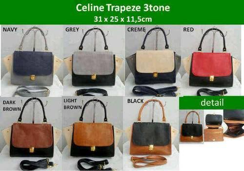 DINOMARKET : PasarDino?-Celine Trapez Bag 3Tone