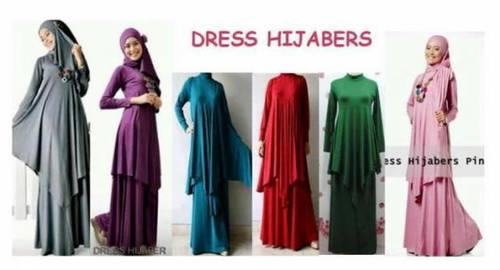 Gamis Abaya Dress Hijaber, dinomarket pasardino baju muslim gamis
