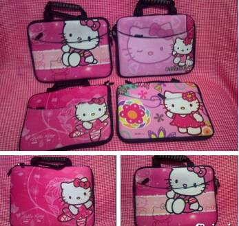 Jual Tas ipad dan laptop hello kitty 10 inch (S474)