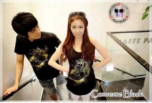 DINOMARKET® : PasarDino™-BAJU COUPLE KOREA : Converse Black