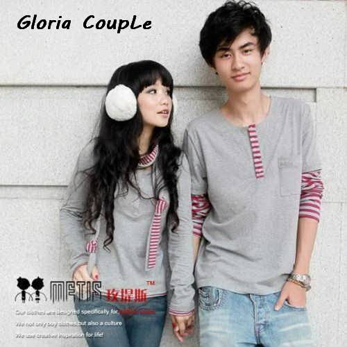 Jual lengan panjang couple, kaos couple, baju couple