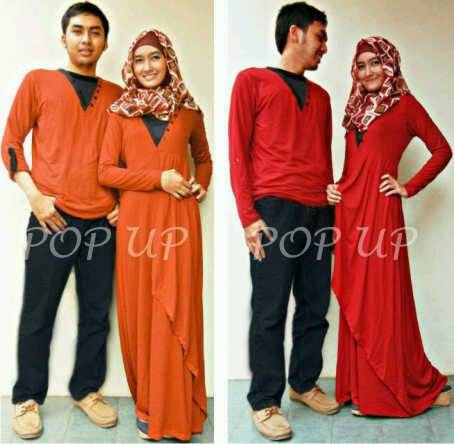 Jual BUSANA MUSLIM COUPLE 2 SPANDEX FIT L