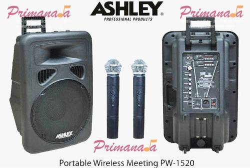 Jual Jual Ampli Ashley Portable Wireless Meeting PW 1520 Baru & Garansi 1 Tahun.