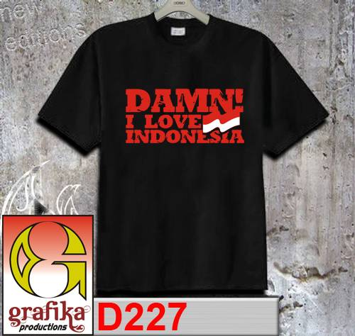 Jual Kaos Damn I Love Indonesia