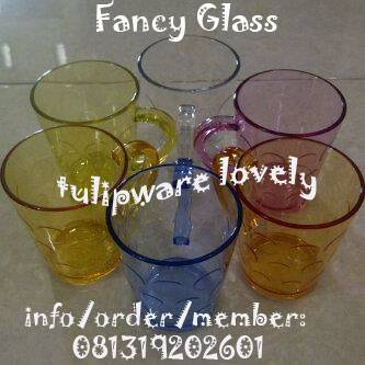 Jual Fancy Glass Twin Tulipware (Anti Bakteri)