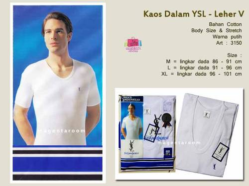 Jual Kaos Oblong Yves Saint Laurent *leher V