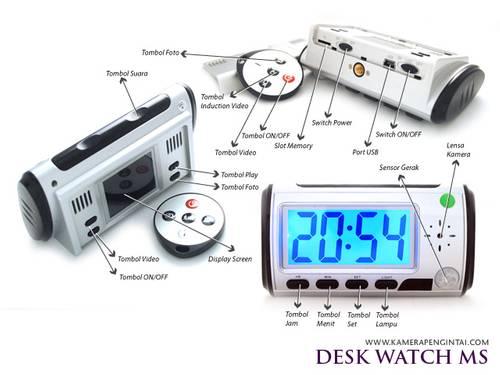 Jual jam digital berkamera pengintai bisa foto dan rekam video