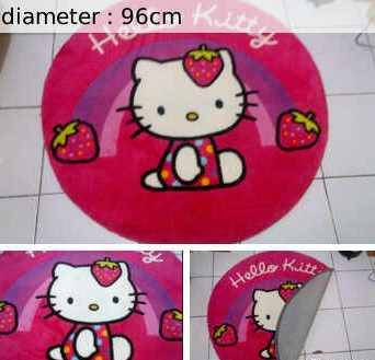 Jual KARPET HELLO KITTY BULAT (30513)