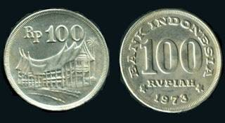 Jual Uang Logam 100 Rupiah Tahun 1973