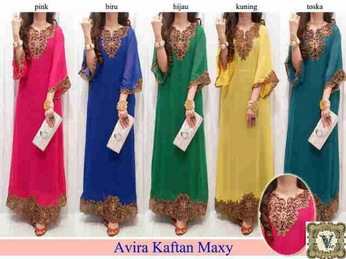 Jual Kaftan Avira / Dress/ Baju / Blouse / Kaftan / Tunik / Baju Muslim / New Ar...