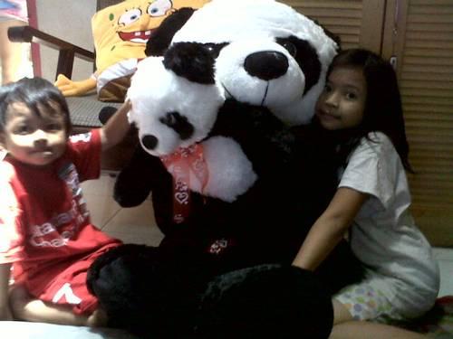 Jual Boneka Panda Besar Lucu Gendong Anak