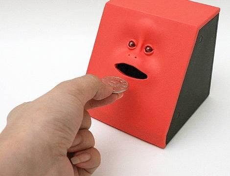 Jual Face bank celengan muka/wajah bisa mengunyah koin&praktis untuk mengajarkan...