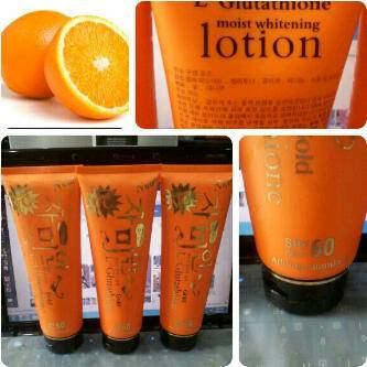 Jual ORANGE POME L-GLUTATHIONE GOLD LOTION SPF 60 + VIT C