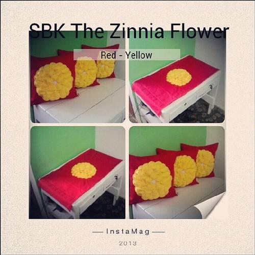 Jual sarung bantak kursi Zinnia Flower