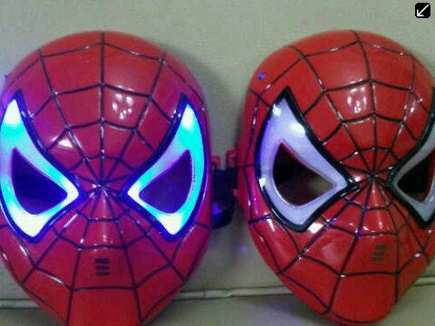 Jual TOPENG IRONMAN, ULTRAMAN,SPIDERMAN, BUMBLEBEE LAMPU LED