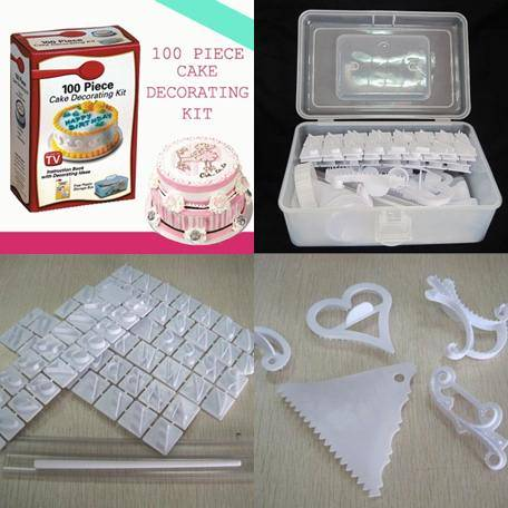 Jual Cake Decorating Kit : DINOMARKET : PasarDino?-100 Piece Cake Decorating Kit As ...