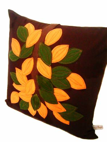 Jual sarung bantal kursi the leaves