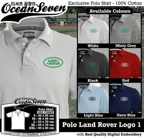 Jual Kaos Polo Land Rover Logo 1