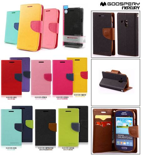 ... Mercury Fancy Diary wallet stand Case Samsung Galaxy S3 Mini i8190