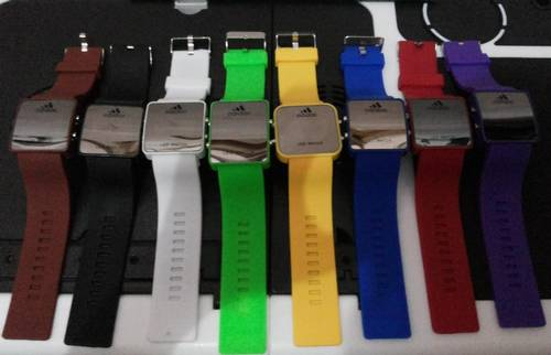 Jual Jam Tangan LED Adidas warna warni