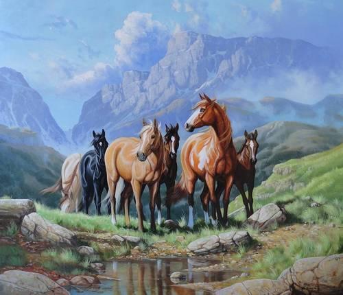 Jual Lukisan Kuda kualitas terbaik, silahkan pesan disini