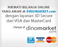 Belanja aman di DINOMARKET dengan layanan 3d Secure dari Visa & Mastercard