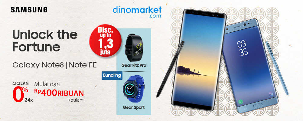Unlock The Fortune Buy Galaxy Note8 or Galaxy NoteFE