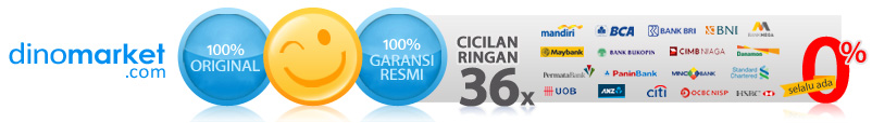 DINOMARKET.com - 100% Original, 100% Garansi Resmi, cicilan ringan up to 36x