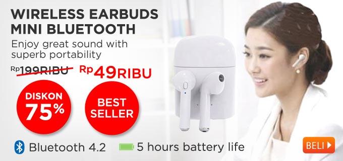 Earphone HBQ I7S TWS Headset Twins Wireless Earbuds Mini Bluetooth V4