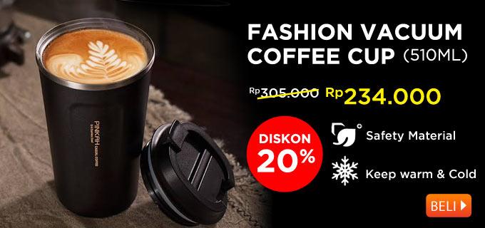 PINKAH PJ-3549 - Insulated Vacuum Stainless Steel Coffee Mug 510ml