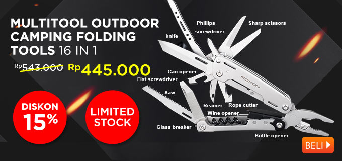 ROXON STORM S801S - 16 in 1 Multitool Outdoor Camping Folding Tools