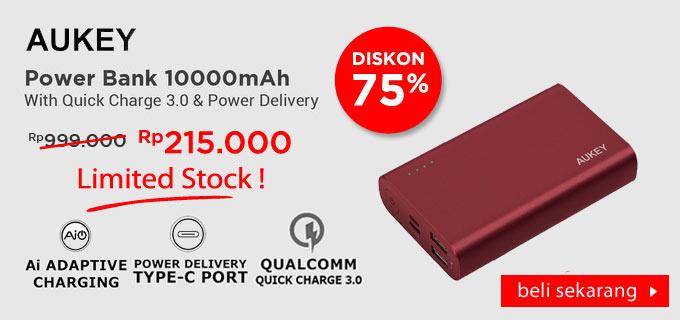 Aukey Powerbank PB-XD12 10000 mAh QC3.0 & Power Delivery