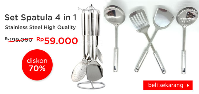 Set Spatula Stainless Steel 4 in 1