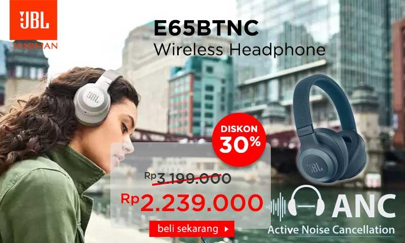 JBL Wireless Over-Ear Noise-Cancelling Headphones E65BTNC