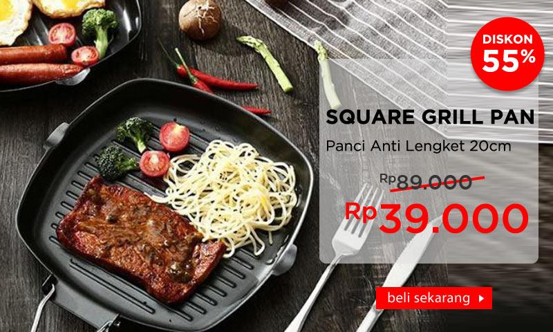 Panci Panggang Steak Anti Lengket 20cm