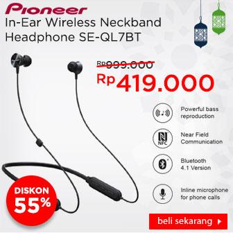Pioneer In-Ear Wireless Neckband Headphone SE-QL7BT