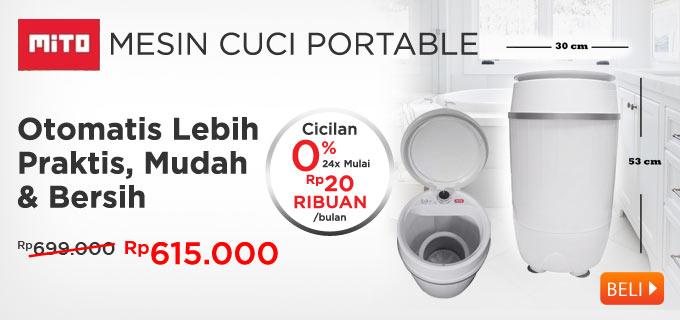 Mito WM1 Mesin Cuci Mini Portable 3,5 KG