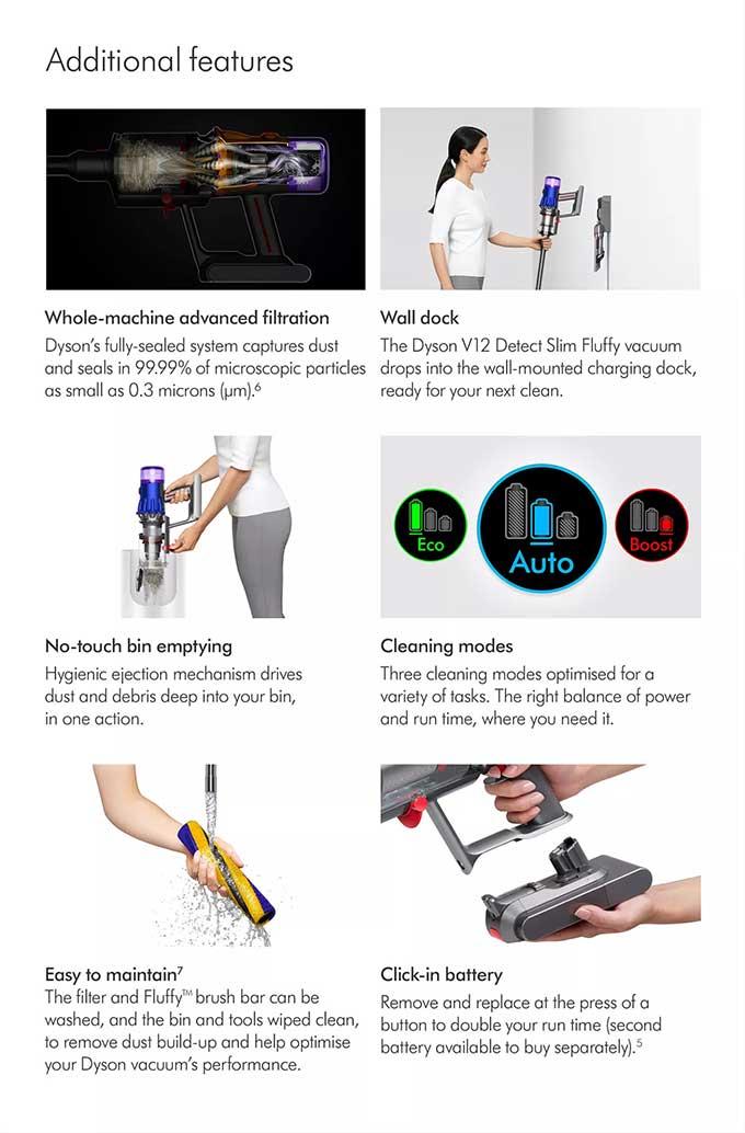 Dyson V12 Detect Slim Fluffy - Iron/ Nickel