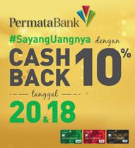 Debit Permata Cashback 10% 2018